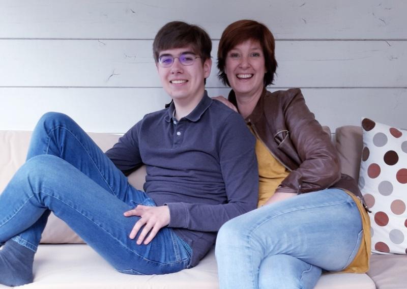 Simone en haar zoon