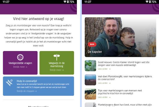 voorbeeld van de app