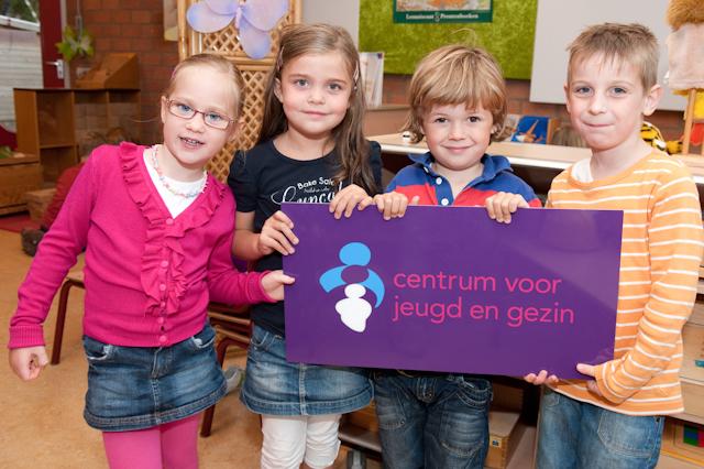 Kinderen met CJG Logo