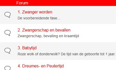 Forumpagina van Ouders online