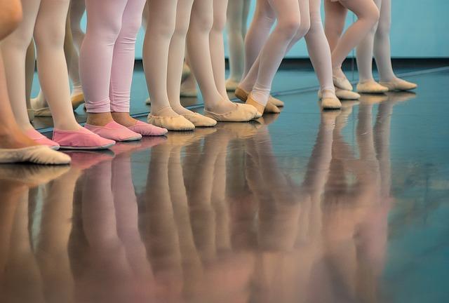Foto van kinderen die aan ballet doen