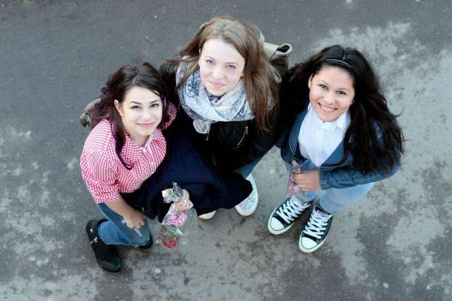Foto van 3 tienermeisjes