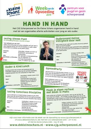 Poster van activiteiten in week van de opvoeding