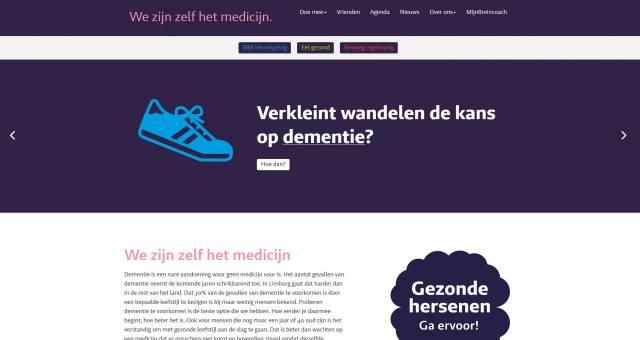 Afbeelding website wijzijnzelfhetbrein.nl